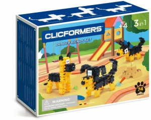 806003 Klocki CLICFORMERS Brave Friends black & yellow