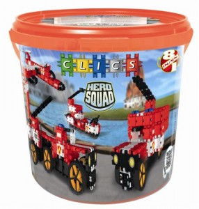 CD004 Klocki CLICS Hero Squad Fire Brigade Drum